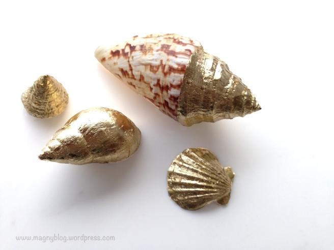 DIY gold shell ,gold leaf