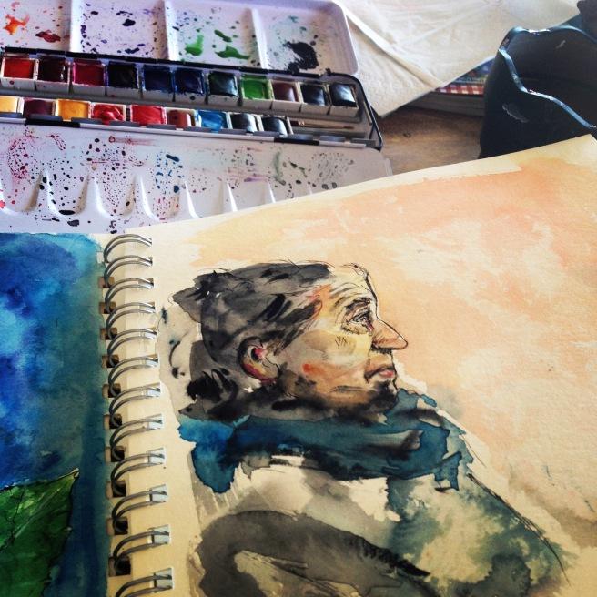 sennelier watercolour test
