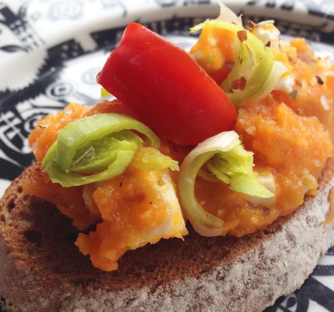Feta & sweet potato mash