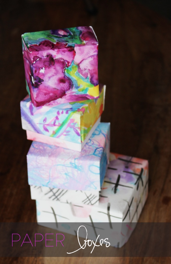 box DIY papir