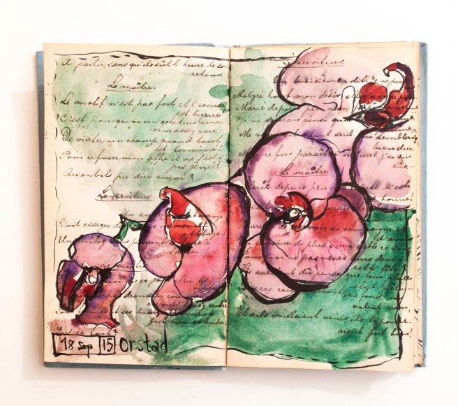 art journal flower