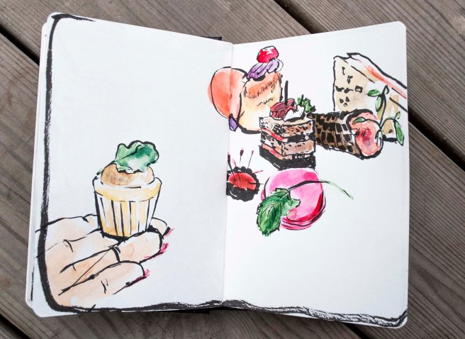 sketchbook, watercolour