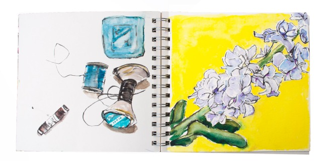 How to be creative, watercolours , watercolour. ink. My sketch bok. creativity course,